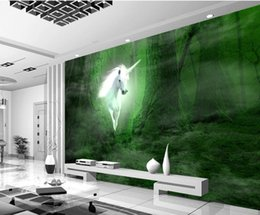 Wholesale fabric photo paper - Photo Customize size 3D Dream forest TV wall mural 3d wallpaper 3d wall papers for tv backdrop
