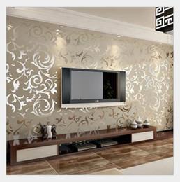 Fond d'écran en gros rose en Ligne-Gros-italien Style moderne 3D relief fond d'écran pour le salon argent et rayé fond d'écran rayé papier peint de bureau