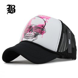 Wholesale Fitted Mesh Baseball Hats - [FLB] 12 Styles 2015 Unisex Acrylic 5 panels Adjustable Baseball Cap Summer mesh caps Snapback Baseball Cap Men Fitted Hats Caps