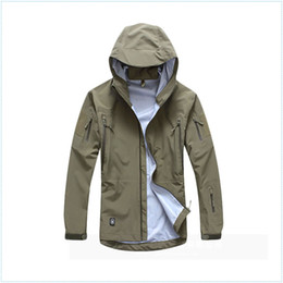 Wholesale Waterproof Hunting Clothing For Men - men jacket military clothing hardshell hunting clothes camouflage army autumn jacket and coat for men multicam windbreaker coat