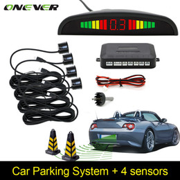 Canada Car Auto Parktronic LED Capteur de stationnement avec 4 capteurs Reverse Backup Car Parking Radar Monitor Detector System Backlight Display Offre