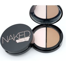 Wholesale Net 25 - Wholesale-Makeup Face Highlighter & Bronzer Press Powder 1 pcs Two-color Highlight and Contour Palette Net 8.4g S-25