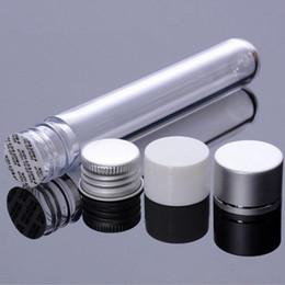 Wholesale Tube Screws - 25ml transparent mask test PET tube with aluminum cap,clear plastic cosmetic tube with pressure sensitive seal