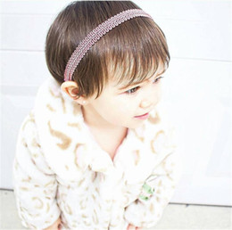 Wholesale Make Baby Hair Bands - New Baby Hand made Elastic bands For DIY Headbands Hairbands Loops Children Kids Head Bands Children seamless Hair Accessories KHA95
