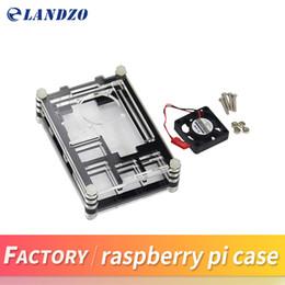 Wholesale Raspberry Box - LANDZO Raspberry Pi 3 Case for Raspberry Pi 3 & 2 B &Raspberry Pi B+,black Sliced 9 Layers Case Box + Cooling Fan