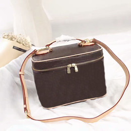 Wholesale Necessaries Makeup - Women's Make Up Bags Brush Necessaries Cosmetic Bag Genuine Leather Nice Toiletry Storage Box makeup bags M42265 Wash Organizer Cases CX#84