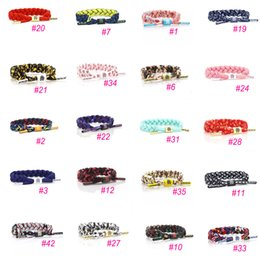 Wholesale hand tied weave - 43 Styles New Fashion Gorgeous Galaxy Bracelet Wristband Hand Woven Adjustable Ties 16CM 100% Polyester Chain One Size Fits Most