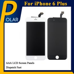 Wholesale Lcd Screen White For Sale - Factory Sale For iPhone 6 Plus LCD Display Touch Screen Digitizer Assembly No Dead Pixel Black & White color iPhone Screen Free DHL