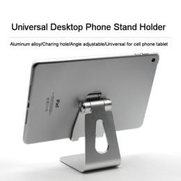 Soporte universal del soporte del soporte del escritorio de la PC de la tableta del cojín del teléfono celular de la aleación de aluminio para el iPhone Samsung teléfonos celulares Tableta del iPad Multi-ángulo desde fabricantes