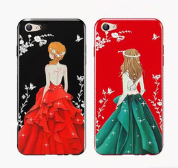 2019 couverture d'iphone Pour iPhone X 8 Plus Robe De Mariée De Mode De Luxe Strass pour Apple iPhone 7 6 6S Plus Housse De Couverture couverture d'iphone pas cher