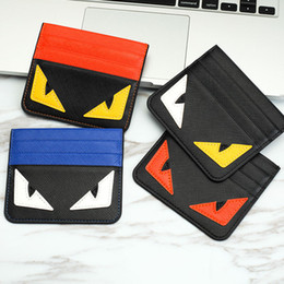 Wholesale Bank Branding - 2017 brand lucky small monster eyes fashion 4 colors Classic Design Bank card mini Small purse Card Holders