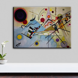Wholesale paintings kandinsky - Wassily Kandinsky painting abstract circle geometry classic art Home Decoration Canvas Poster Print wall decor art