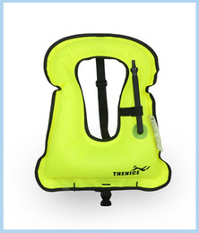 Wholesale Life Jacket Float - Wholesale- 2017 New Arrival Real Women Imming Vest Portable Inflatable Life Jacket Super Light Buoyancy Float Ring Snorkeling Equipment