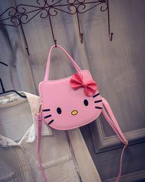 Wholesale Kitty Cell Phone - Wholesale-New summer designers mini cute bag children hello kitty handbag kids tote girls Shoulder Bag mini bag wholesale bolsas
