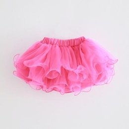 Wholesale Wholesale Tulle Skirt - 8 Colors Baby Girls TUTU Skirt 2017 Kids Girls Tulle Dress Princess Toddler Ruffle Skirts for Party Children Clothing Wholesale T006