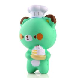 Wholesale Cartoon Cake For Kids - Kawaii Squishy Chef Bear Soft Collectibles Slow Rising Cartoon Kids Toy Doll Bread Cake Doll Decompression Pressure Relief