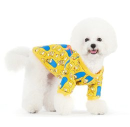 Wholesale Wholesale T Shirts Sweaters - Free shipping Dog T shirt Pet Cat Lovely and pretty wholesale clothing manufacturer Without Sleeves for Puppy Summer Clothes 052