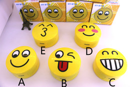 Wholesale Smile Speakers - New Emoji Portable Cartoon Stereo Bluetooth Speaker Wireless Subwoofer Lovely Smile Faces Mp3 Music Player Support TF Card Voice Control