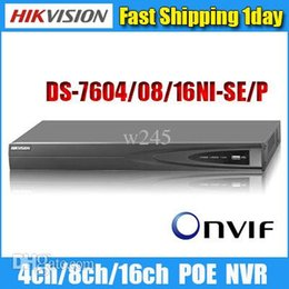 Wholesale E2 Kit - Wholesale-Hikvision nvr poe English Version DS-7608NI-SE P DS-7616NI-E2 8P Onvif 4ch 8ch 16ch nvr cctv kit network video recorder