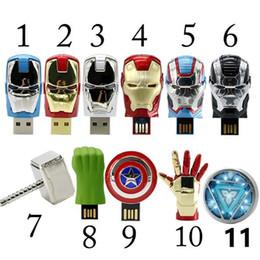 Wholesale Avengers Pen Drive - The Avengers usb flash drive 4G iron man 8G pen drive 16G Captain America 32G usb stick Hulk Thor pendrive U disk
