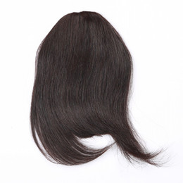 Wholesale Clip Fringe Bangs - 100% Human Hair Fringe Bold Blunt Clip In Hair Bangs Brazilian Virgin Hair 7 Colors Choose