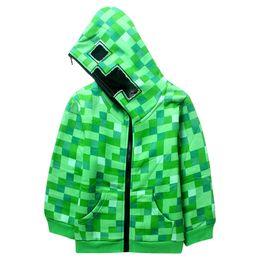 Зеленая клетчатая рубашка онлайн-милые дети с капюшоном куртка пальто зеленый плед плюс толстая толстовка куртка для 5-14 лет дети мальчики девочки верхняя одежда куртка одежда