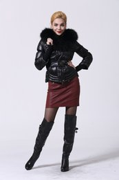 Wholesale Dog Collar Women - Top AAA+++ Quality,Woman 6030 Down Parkas Black Color,Big Fur Down Jacket,Down&Parkas Outlet,Woman Coats Sale,Size S-XL,Free Shipping