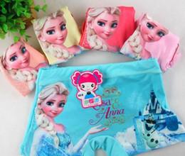 Wholesale Underwear Boxer Pcs - sell new 10 pcs Elsa&Anna Children cartoon Girl's cotton underwear Boxer shorts free shipping