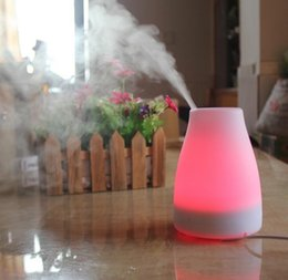 Wholesale Electric Aroma Air Humidifier - Ultrasonic Air Aroma Diffuser Humidifier 7 Color Change LED Night Light Electric Aromatherapy Essential Oil Aroma Diffuser Travel Humidifier