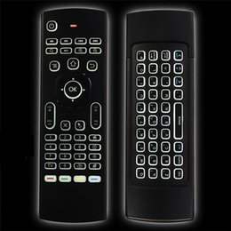 Wholesale Ir Learning - MX3 Backlight Wireless Keyboard 2.4G Wireless Remote Control IR Learning Air Mouse Backlit For Android TV Box PC A95X X96 TX3 Pro