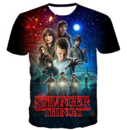 Wholesale 5xl Funny T Shirts - New Fashion Womens Mens Stranger Things Short Sleeves Funny 3D Print T-shirt Summer Casual Clothes Top Tees Plus S-5XLKK15