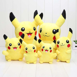 Wholesale Wholesale Stuffed Animals Pikachu - 2pcs lot 14cm 18cm 30cm Pikachu Pocket Doll Plush Toys Soft Stuffed Animal Toy Figure Collectible Doll Best Christmas Gifts