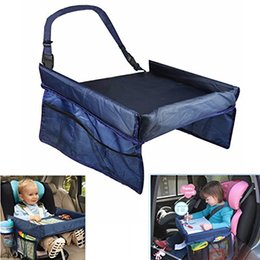 Wholesale Baby Bmw - Baby Car Safety Seat Snack & Play Lap Tray Portable Table Kid Travel Portable Safety Kids Car Seat Travel Tray Activity Drawing Board Table
