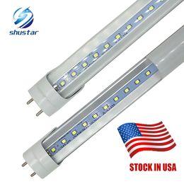 Wholesale Led Lamps G13 - 100* in stock LED T8 G13 Tube 4ft 22W 20W 18w SMD 2835 Light Bulbs 4 feet 1.2m 1200mm 85-265V led lighting fluorescent lamp 3 year warranty