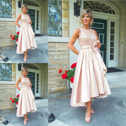 Wholesale Lace Modern Bride - 2017 Newest High Low Mother Of The Bride Dresses Sleeveless O neck Elegant Women Evening Dresses Mother Dresses