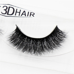 Wholesale Full Thick Hair - 3D Mink Eyelashes Natural Extension Long Cross Thick Mink Lashes Handmade Eye Lashes A09