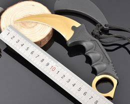 Wholesale Game Counters - Outdoor Camp Knife CS GO Counter Doppler Strike Hawkbill Tactical Claw Karambit Game Knife Survival Combat Knife 4 Styles B85L