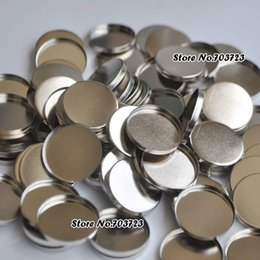 Wholesale Empty Magnetic Pan - Wholesale- 1 lot= 100pcs Empty Round Tin Pans for DIY Eye shadow Powder 26mm size Responsive to Magnetic Palette