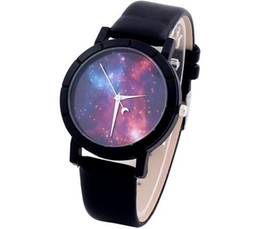 Wholesale Cosmic Black - 2017 Cosmic Watchs Classic simple dream sky fashion fashion belt quartz watch Star Watch Unisex Leather Watch