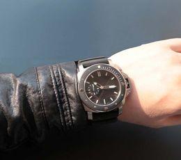 Wholesale Mens Rubber Wrist Band Watches - New Luxury Wristwatch Brand pam 389 00389 Pam389 1950 47mm Automatic Mens Watch Black Rubber Band Men's Sport Wrist Watches