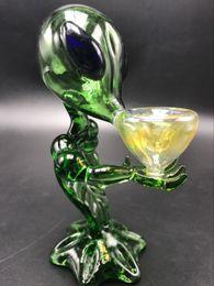 "Estrangeiro de petróleo on-line-G Spot Tubo Alienígena Reciclador Dab Rig Tubos De Fumo De Vidro Tubos De Mão 6.69 ""Inch Alien Plataforma De Petróleo De Vidro Dab Bong"