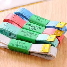 Canada 500pcs Livraison gratuite couleurs aléatoires Corps Règle De Mesure Doux Flat Couture À Coudre Ruban à Mesurer 1,5M / 60inch 60 Offre