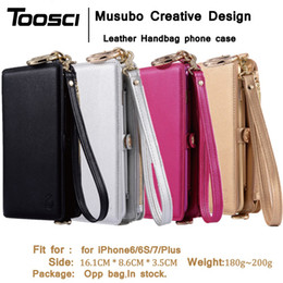 Wholesale Musubo Iphone Cases - phone Cases Cover For iPhone 7 Plus Musubo Brand Luxury leather wallet case for iPhone 6 Plus 6s plus 7plus Girls phone bag coque capa