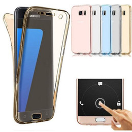 Wholesale Galaxy S3 Cases Front - S7 EDGE Case Front Back Full Case For Samsung Galaxy S6 Edge A5 2016 Touch Soft TPU Case For Samsung A5 2016 J3 J5 Prime S3 A3 A5 2017