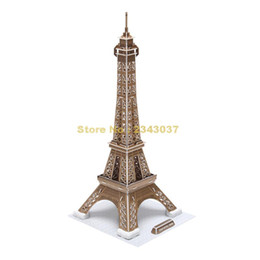 Wholesale 3d Famous Architecture - Cubicfun C044h World Famous Architecture Cardboard Mini Eiffel Tower 3d Jigsaw Puzzles