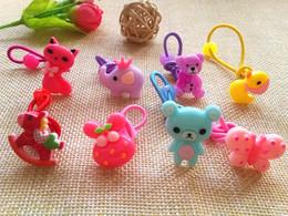 Wholesale Sculptured Bows - Girls Ribbon Sculpture Hair Bow Clips for Kids Girls Teens Animal Flower Hair Clip Korean Hair Accessories 100pcs lot