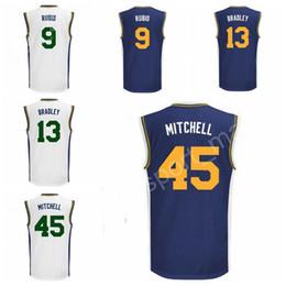 Wholesale Flash Style - 2017 New Style 9 Ricky Rubio Jersey Men Printed 45 Donovan Mitchell 13 Tony Bradley Basketball Jerseys Navy Blue White Color Free Shipping