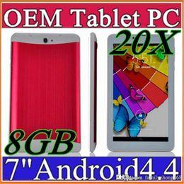 "Wholesale Pcs Calls - 20X DHL 7 inch 7"" 3G Phablet Android 4.4 MTK6572 Dual Core 8GB 512MB Dual SIM GPS Phone Call WIFI Tablet PC Bluetooth B-7PB"