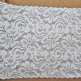 Wholesale Eyelet Flowers - 21CM Width 10yds White Jacquard Lace (JL007)Thicken Flowers Decoration Ribbon Lace Trim Eyelet Crochet DIY Clothing Fabric