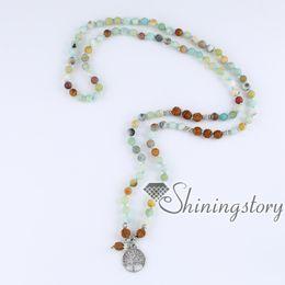 108 Mala Perlenkette bodhi Samen tibetischen buddhistischen Gebetskette Mala Armband Meditation Halskette Baum des Lebens Anhänger buddhistischen Rosenkranz von Fabrikanten